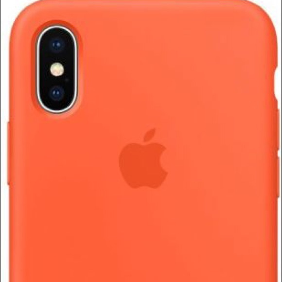 new style da245 28747 Apple iPhone X Silicone Case- Spicy Orange